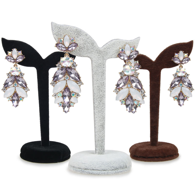 New Arrival 4 Color Velvet Earring Display Stand Props Stud Earrings Holder Rack Storage Dangle Tree Fashion Women Jewelry(China (Mainland))