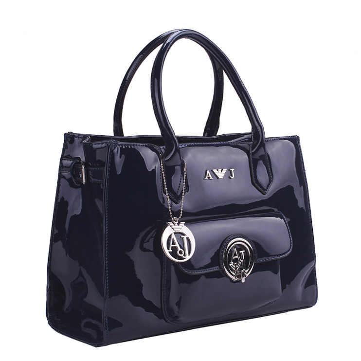 2015 Women's aj bag shoulder bag patent leather oil skin PU brand jelly diamond bag(China (Mainland))