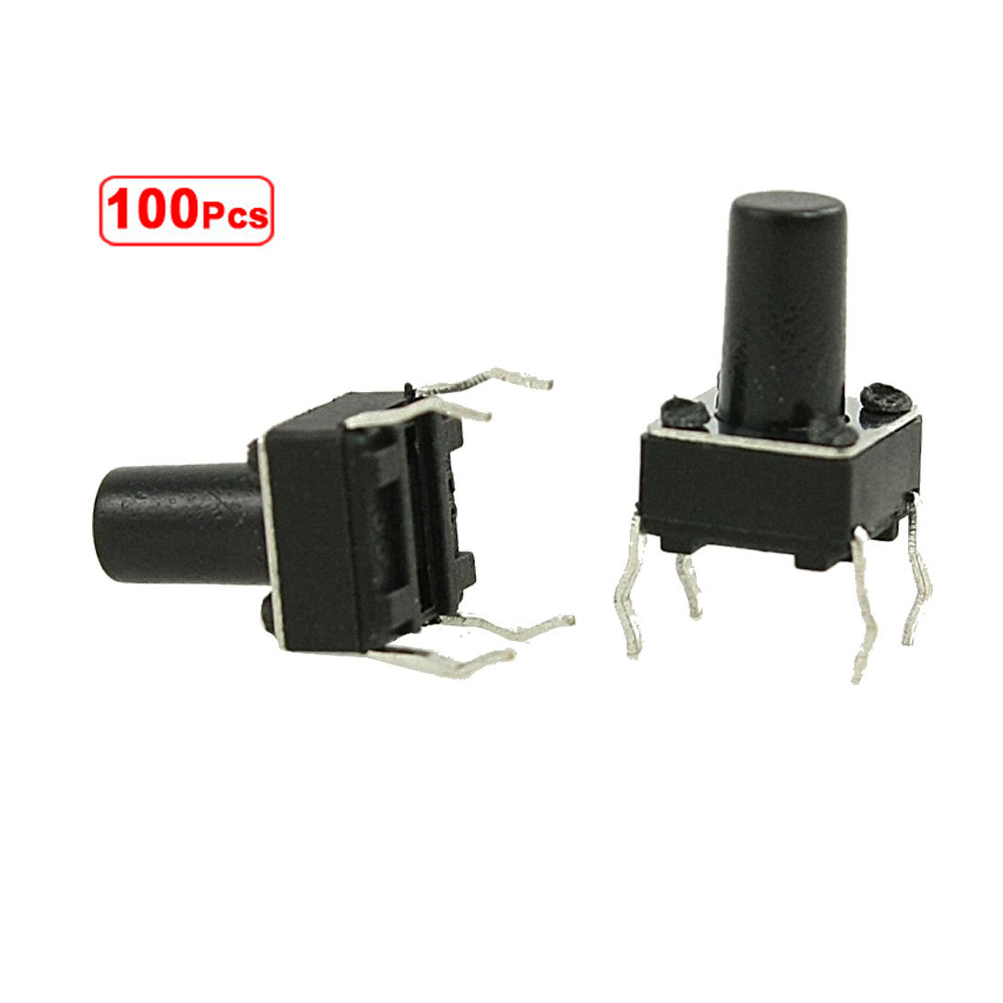 PROMOTION! 100 Pcs 6 x 6mm x 9.5mm PCB Momentary Tactile Tact Push Button Switch 4 Pin DIP