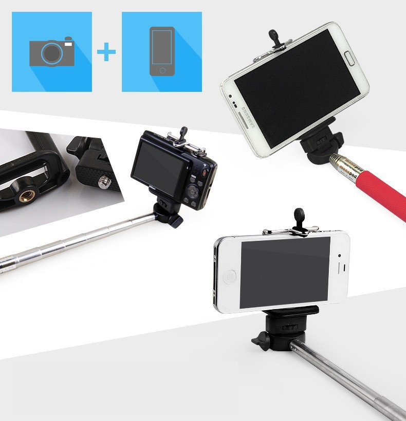 1 x Extendable self selfie Monopod Cable Selfie Stick Camera Tripod for iPhone 4 5 5s