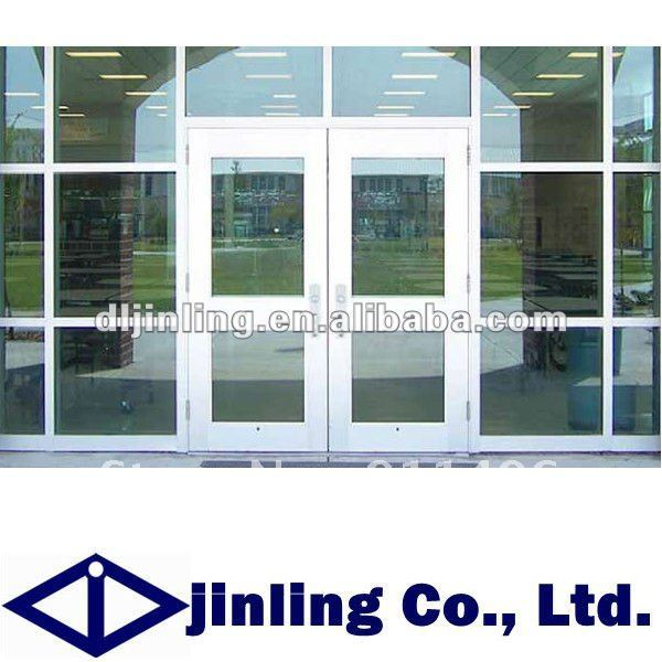 Aluminum Commercial Double Glass Doors Aluminum Glass Double Entry Doors Commercial Glass Entry
