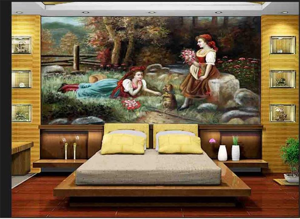 Dog print wallpaper promotion shop for promotional dog for Mural vision tv