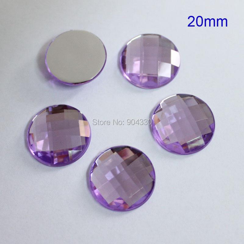 Free Shipping! 100pcs Lavender 20MM Flatback Rhinestone Square Facets Acrylic Diamond DIYCraft Jewelry Garment Accessory(China (Mainland))