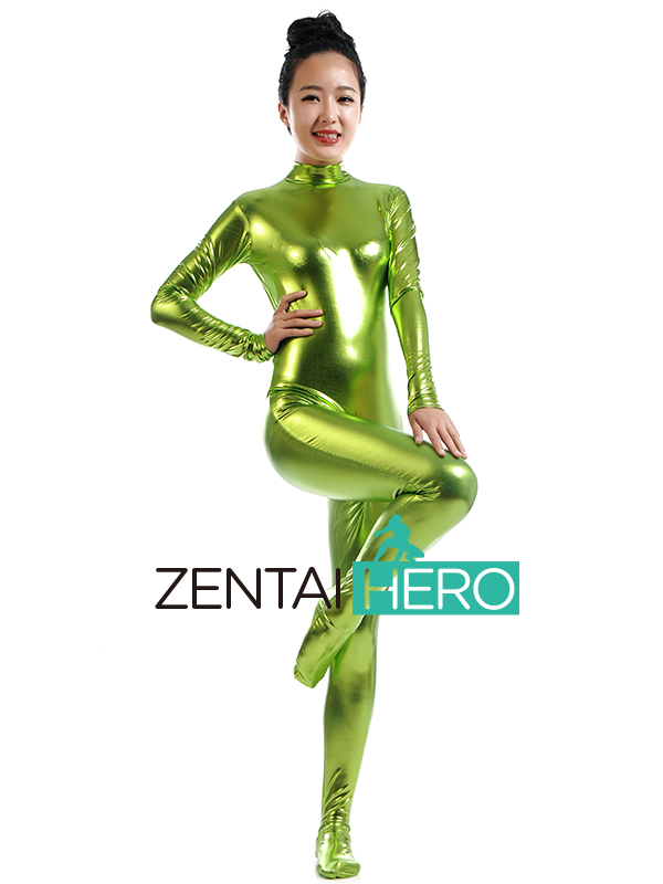 ZentaiHero Sexy Unicolor Fancy Dress Lady Tight Shiny Metallic Zentai Catsuit Bodysuit For Woman Jumpsuit Leotard SM1458 (4)