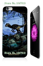 Mobile Phone Case Retail 1pc Jurassic world Movie Design Protective White Hard Case For Iphone6 6th Free Shipping