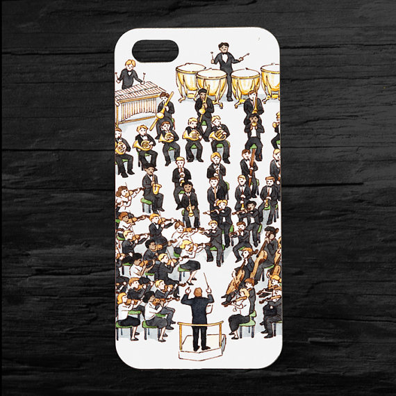 Orchestra Music Band Camp Case for Apple iPhone 4S/5S/SE/5C/6S/Plus Mobile Cover 2015 Hot Selling(China (Mainland))