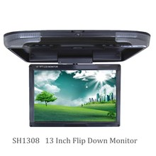 "Hot sale 13"" inch Car Monitor Digital Screen Car Roof Mounted Monitor Flip Down Monitor AV(China (Mainland))"