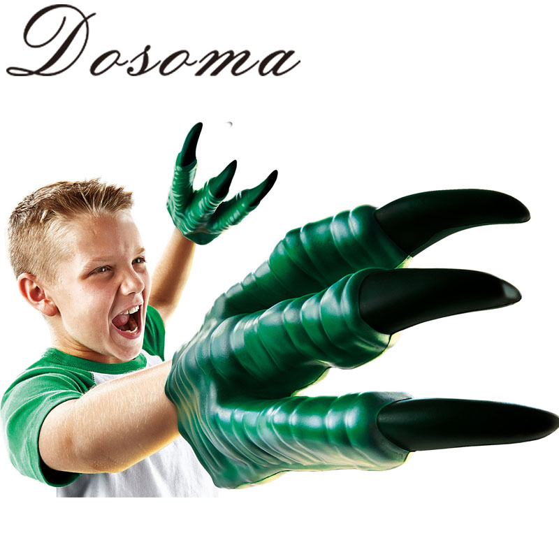 2015 Jurassic Dinosaur Toy Dragon Gloves Child Halloween Gift Funny Gadgets For 6 years Old Boy Practical Jokes PVC Cartoon Toys(China (Mainland))