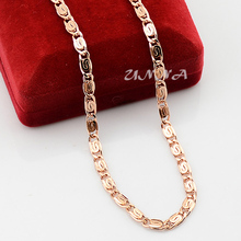 4.5mm Mens Womens 18K Rose Gold Filled Link Chain Necklace Fashion Snail Jewelry Wholesale Retail(China (Mainland))