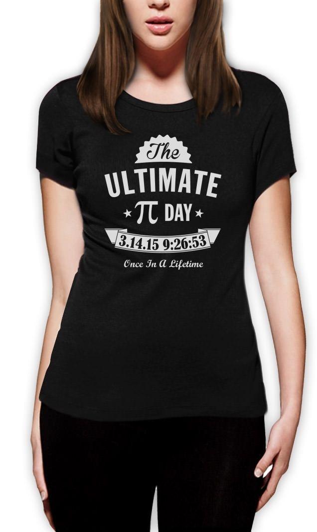 Summer Sleeves Cotton Short Sleeve Women Gift Ultimate Pi Day 3.14 2015 Lifetime Math Geek Dt Nerdy Crew Neck Shirts