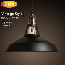2016 new Industrial retro style Art Pendant light black white Edison light bulb American village lamps Hanging Lamps luminaries(China (Mainland))