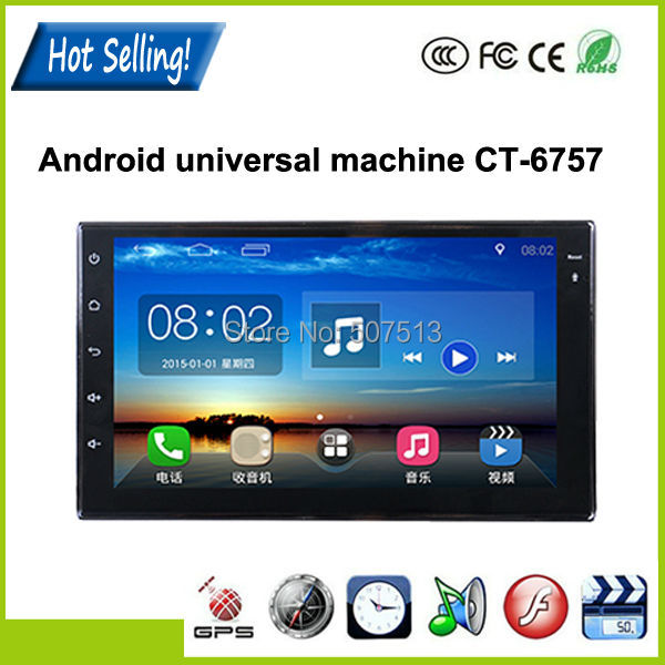 1024*600 Pixels 7Inch car dvd player 2 din in car dvd for Android universal machine with Bluetooth/gps+ Free 8GB MAP Card(China (Mainland))
