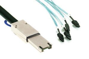 New Mini SAS to 4 SATA Cable SFF 8088 Serial ATA External to Hard Disk HDD 1M(China (Mainland))