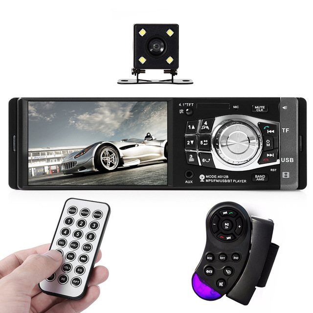 4012B 1 Din Car Radio Auto Audio Stereo 4.1 inch MP4 MP5 Player Multimedia Audio Video Support Rear View Camera USB FM Bluetooth(China (Mainland))