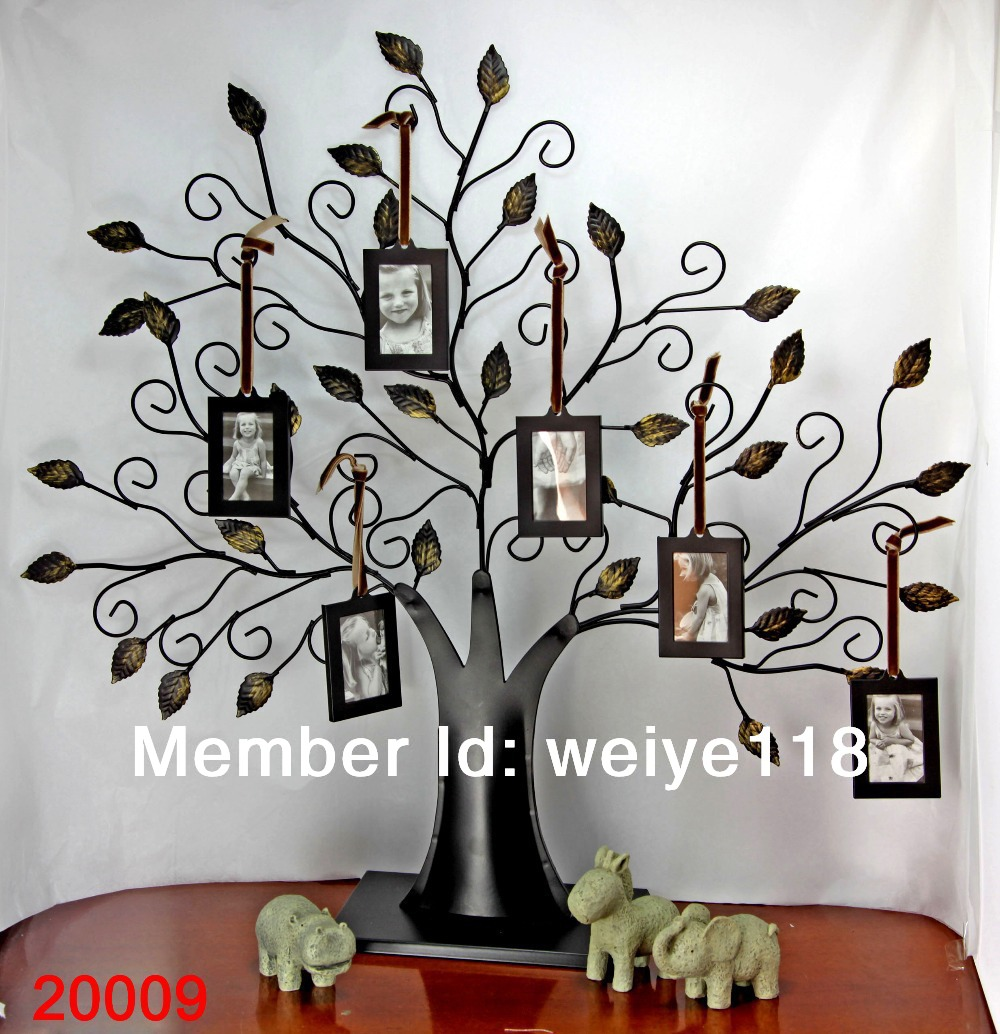 family tree photo frame with 6 frames metal photo frame in frame from home garden on. Black Bedroom Furniture Sets. Home Design Ideas