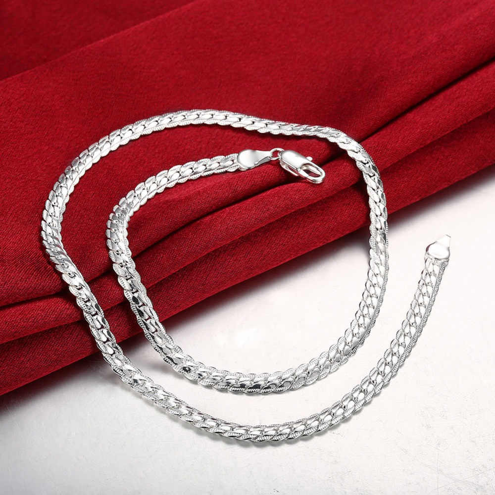 Fashion Snake Chain 5mm 20inch Wholesale Chain Jewelry Silver Plated Chains Necklace For Men Women 925 Jewelry Christmas gift(China (Mainland))