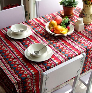 Free shipping national trend dining bohemia tablecloth/ table cover 140*180cm(China (Mainland))