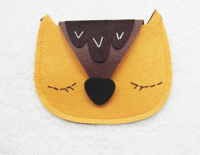 Новые 13 * 15.5 см детский ремне унисекс сумка, творческая лиса сумка почтальона ...