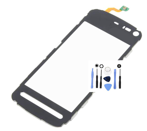 Black Front Outer Glass Touch Panel Digitizer Screen For Nokia 5800 XpressMusic W/Tools(China (Mainland))