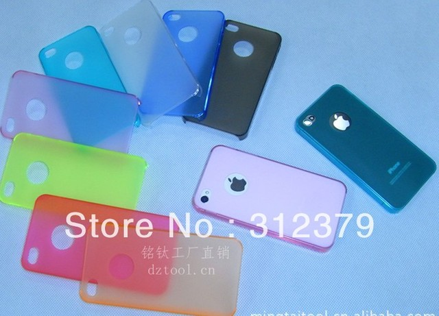 Wholesale--phone 4S case Ultra-thin 0.3 mm rinsing case protecter 8 colors good quality low price 20pcs/lot