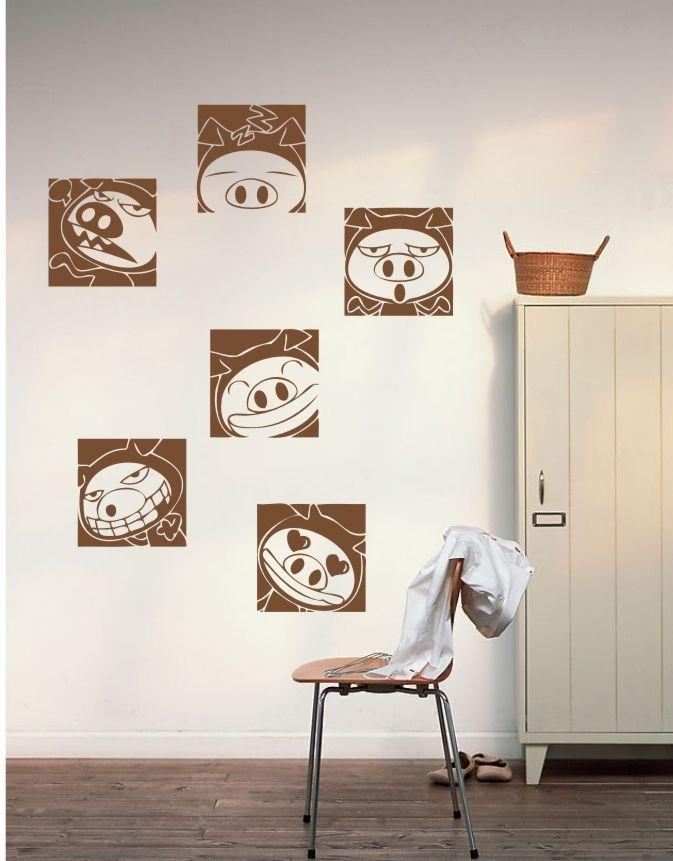 Фото - Стикеры для стен MeleStore 6pcs MQT608 стикеры для стен melestore diy mqt434