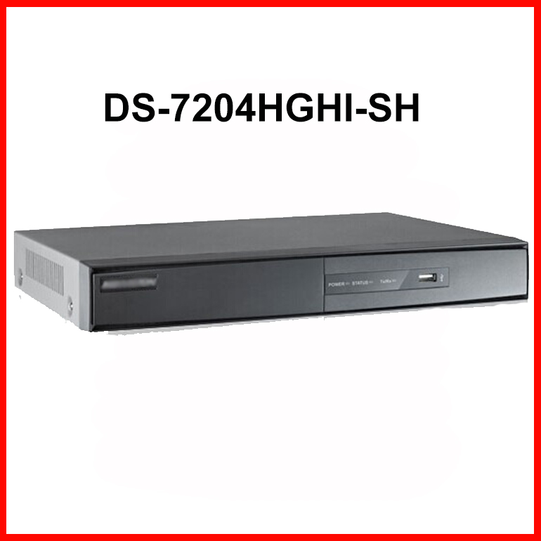 DS-7204HGHI-SH 4CH 720P Turbo HD DVR long transmission distance 500m Security H.264 Video Recorder Support HD-TVI analog Camera(China (Mainland))