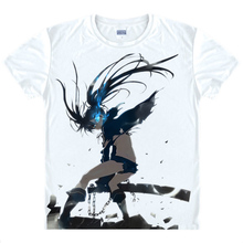 Black Rock Shooter T-shirts kawaii Japanese Anime t-shirt Manga Shirt Cute Cartoon Mato Kuroi Cosplay shirts 37166799598 tee 344