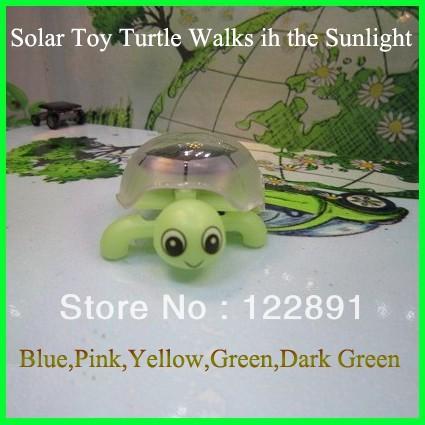 HOT Mini Solar Tortoise Solar Turtle Solar Toy Educational Toy Fun Gift 2pcs/Lot Free shipping(China (Mainland))