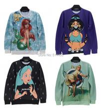 [Amy]iSWAG 2014 new fashion High Quality Men casual hoodies Harajuku 3D Cartoon Girl printed sweatshirts size S M L XL(China (Mainland))