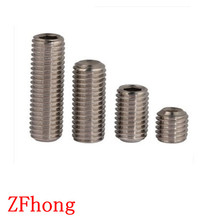 Buy 100pcs DIN913 M3*3/4/5/6/10/12/14/16/20 A2 Stainless Steel flat end hex socket set grub screw for $1.01 in AliExpress store