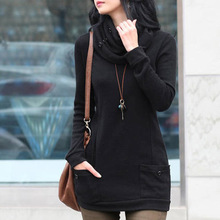 2015 Autumn Winter Women Thin Sweater Casual Knitted Turtleneck Long Sleeve 4 Colors Pullover WZM771(China (Mainland))