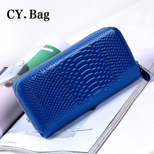 2016 new double zipper wallet large snake lady Wallet Purse Clutch long high quality mobile phone The dollar's purse(China (Mainland))