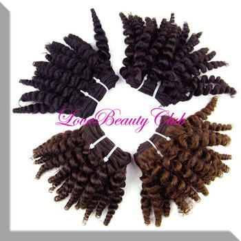 "8"" 2pcs Lot 40g/pcs Wholesale Afro Kinky Curly Hair Weave Beauty Cheap Ali Hair Color # 1B,#1,#2,#4 Grade 5A Weaving Hair Cabelo"