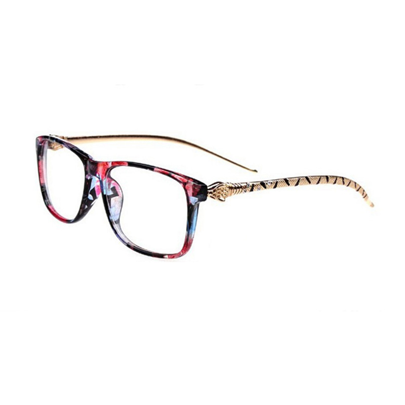 Men Womens Myopia Eyeglasses Frame Leopard Head Optical ...