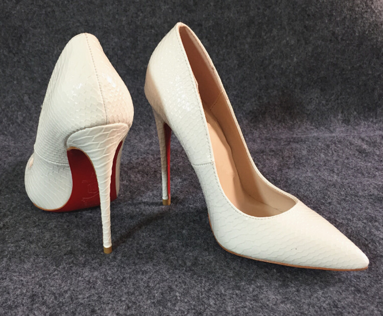 Bridal Shoes White Pumps Sexy Ladies Red Bottoms Heels Wedding Luxury Brand Womens Designer Red Soles Pointed Toe heels  K2323<br><br>Aliexpress