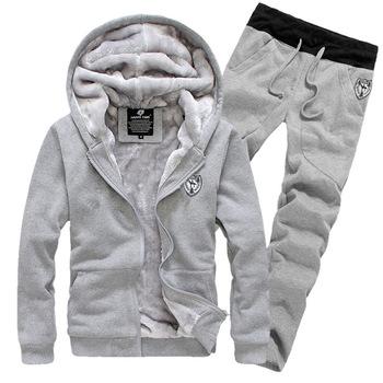 Бесплатная доставка зима 2015 новый мужской мода досуг all-матч утолщенной hoodied спортивный костюм мужской самостоятельно - выращивание толстовка пальто
