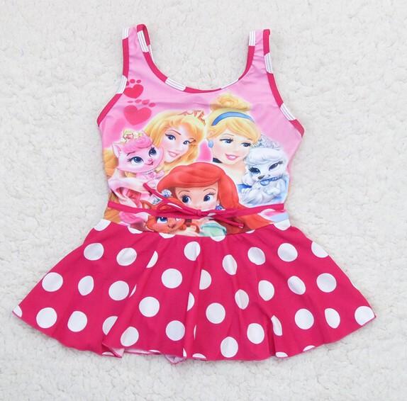 Wholesale Children Swimsuits Girl's Swimwear Princess Cartoon Snow White swimwear Baby Girls beachwear One Pieces 5pcs/lot