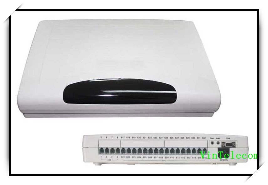 Advanced Hybrid PABX system / PBX system / telephone switch system CP416 (4 Phone lines and 16 Ext.)-hot sell(China (Mainland))