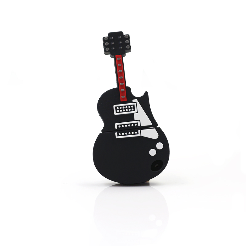 2016 newest Music Band Black Guitar Bass USB flash drive 64GB 32gb 16GB 8GB 4GB USB 2.0 Flash pen U Disk Pen Memory Stick Gift(China (Mainland))