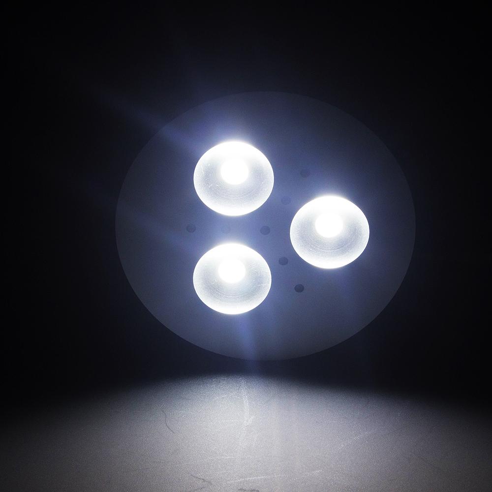 3W Aluminum Home Kitchen Led Under Cabinet Lighting 3 LED Energy Saving Lights Round Lamp Bulb AC110-240V(China (Mainland))