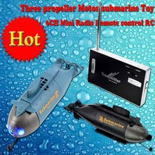 Mini Submarine Radio Remote Control RC RTR Three Propeller Motor 6CH Electric Gift(China (Mainland))