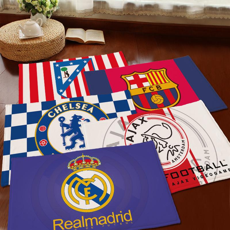 New doormat cartoon Barcelona Real Madrid Chelsea Milan Inter series bedroom carpet mats Super soft cartoon floor door mat(China (Mainland))