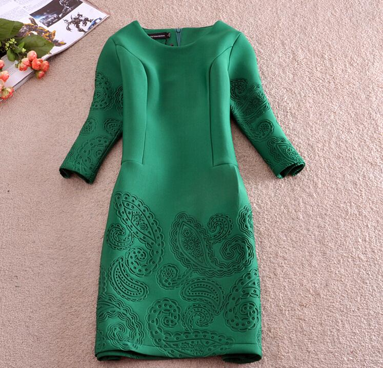 Women Spring Summer Dress 2015 Fashion Vintage Elegant Office Green Blue Dresses Pencil Skinny Plus Size Dress Roupas Femininas(China (Mainland))