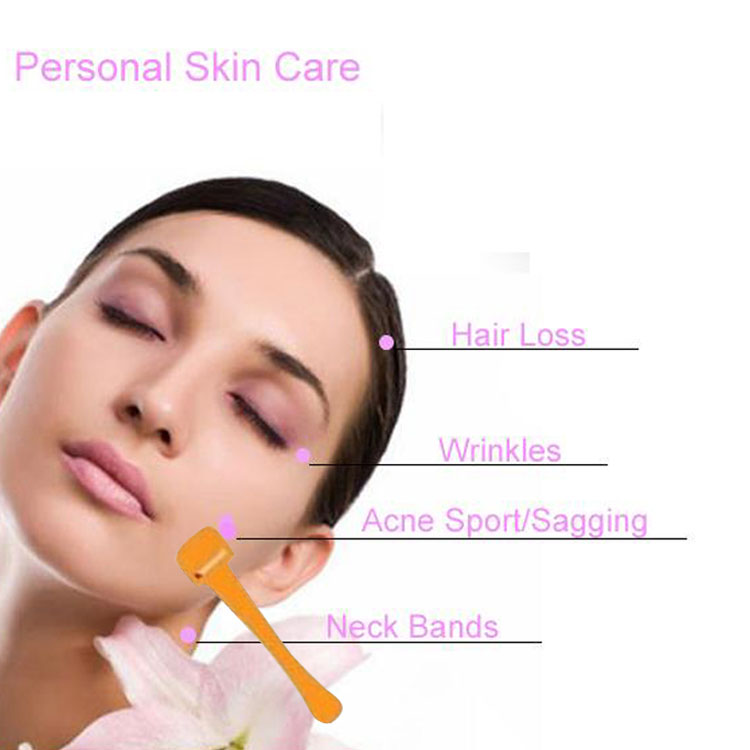 facial skin roller wrinkle freckle acne scars removal skin care face massage roller(China (Mainland))
