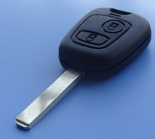 Hot selling replace case for Peugeot 107 207 206 307 2 Button car key blank FOB