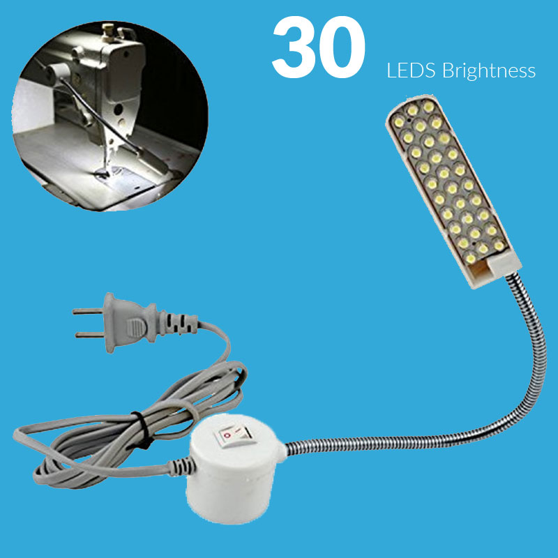 LED Machine Sewing Light 220v 30 LED Table Desk Lamp with Magnetic Mounting Base for Sewing Gooseneck Tools Accessories(China (Mainland))