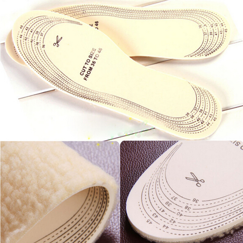 Гаджет  1 Pair Warm Comfortable Wool Winter Shoe Insoles For Female Feet Care Shoes Insole Women Men Pad Size 36-45 None Обувь