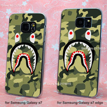 camo bape Camouflage transparent clear hard Cover Case Samsung Galaxy s3 s4 s5 mini s6 s7 edge - Jomic store