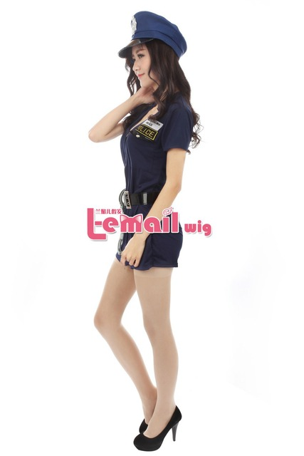 Free Shipping Halloween Party Sexy Uniform Cop Police Costumes for Women
