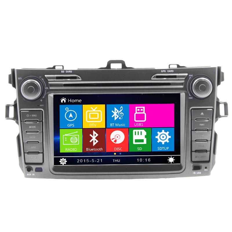 HD Car Radio DVD Player GPS Navigation Central Multimedia stereo for Toyota Corolla 2012-2013 with BT, free map free shipping(China (Mainland))